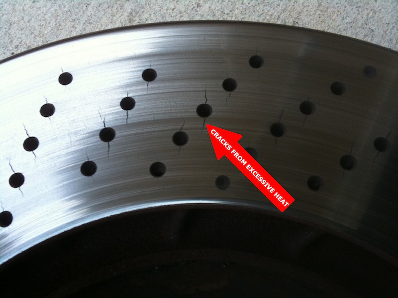 cracked drilled rotors
