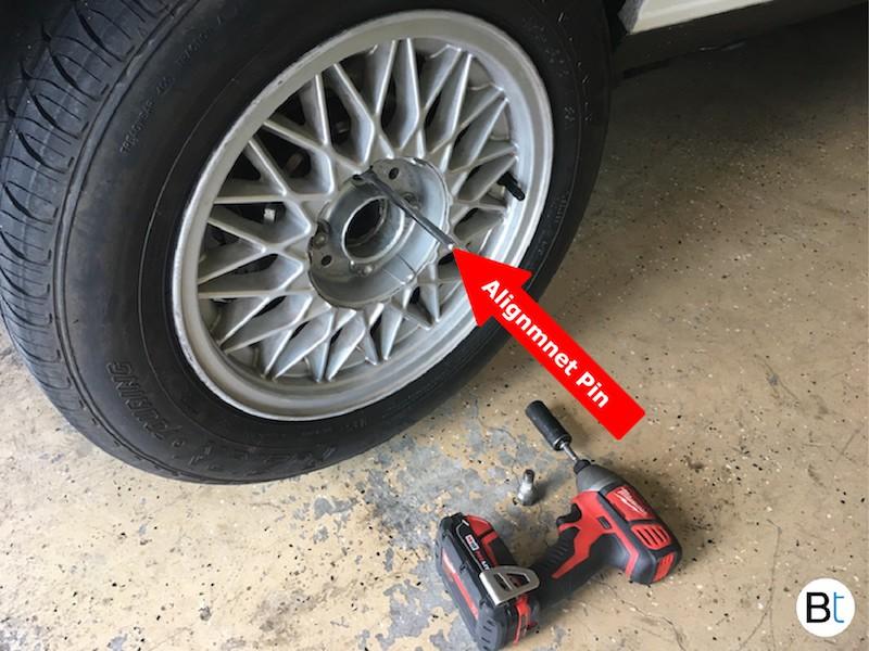BMW Wheel alignment pin E30