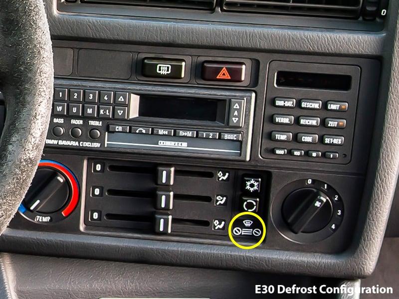 E30 defrost configuration