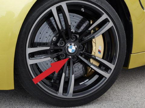 BMW M Wheel Emblem replacement