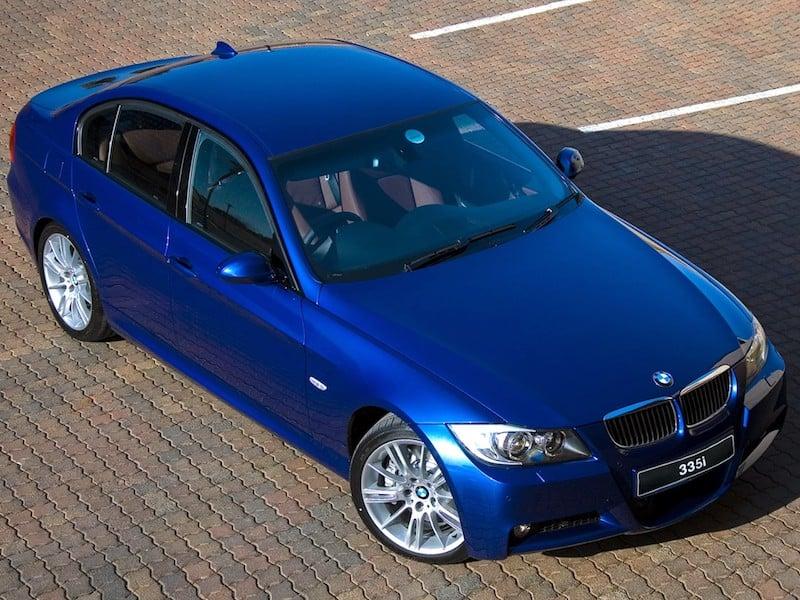 BMW E90 sedan 335i blue