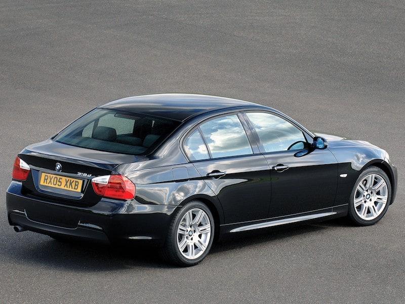 BMW E90 sedan black