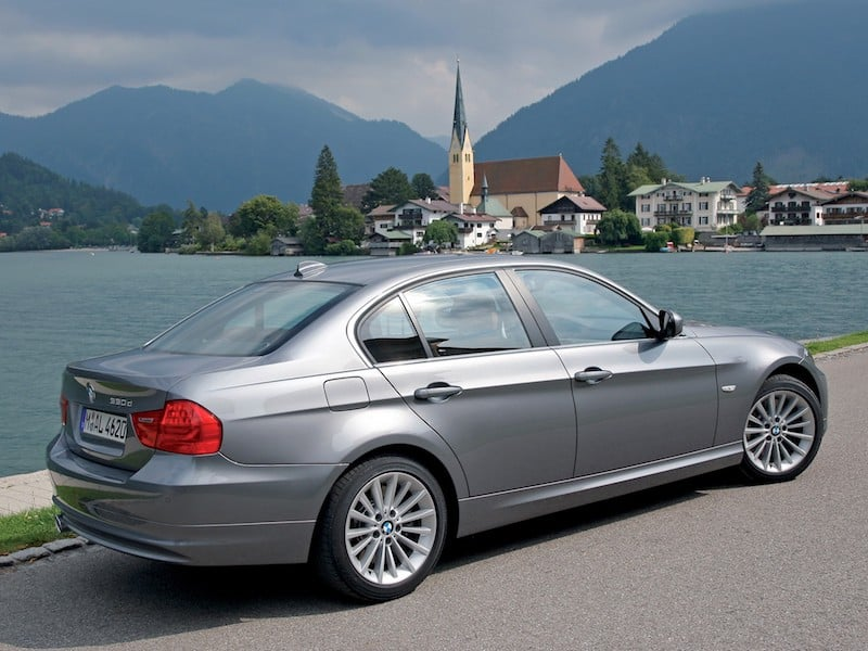 BMW E90 sedan silver