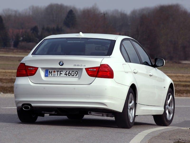 BMW E90 sedan white