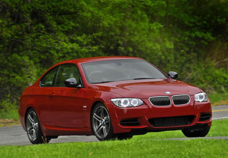 BMW E92 335is coupe red