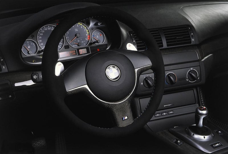 BMW E46 M3 CSL radio delete panel