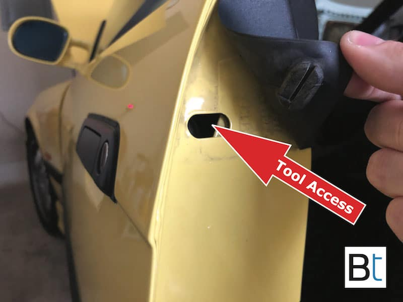 BMW E36 E34 door handle seal replacement