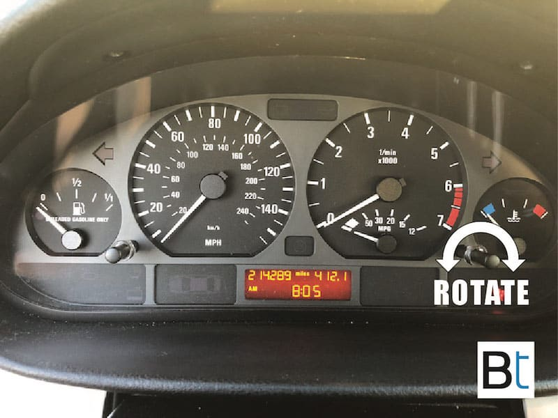 How to adjust BMW E46 clock