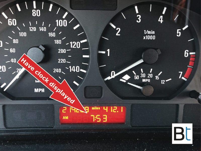 How to adjust BMW E46 clock