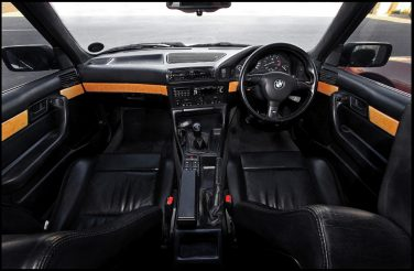 BMW E34 interior black