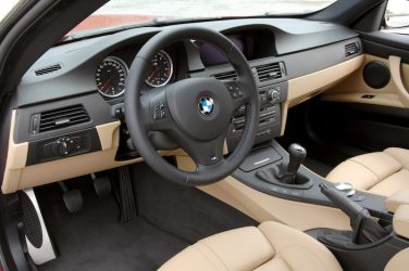 BMW E92 M3 manual transmission interior