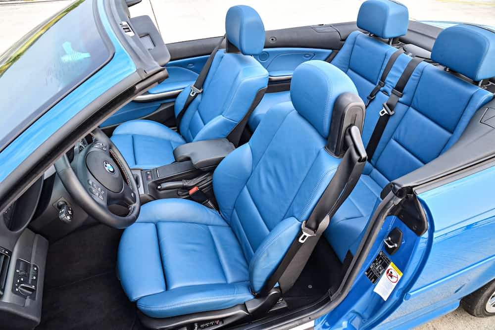 BMW e46 m3 laguna seca blue interior