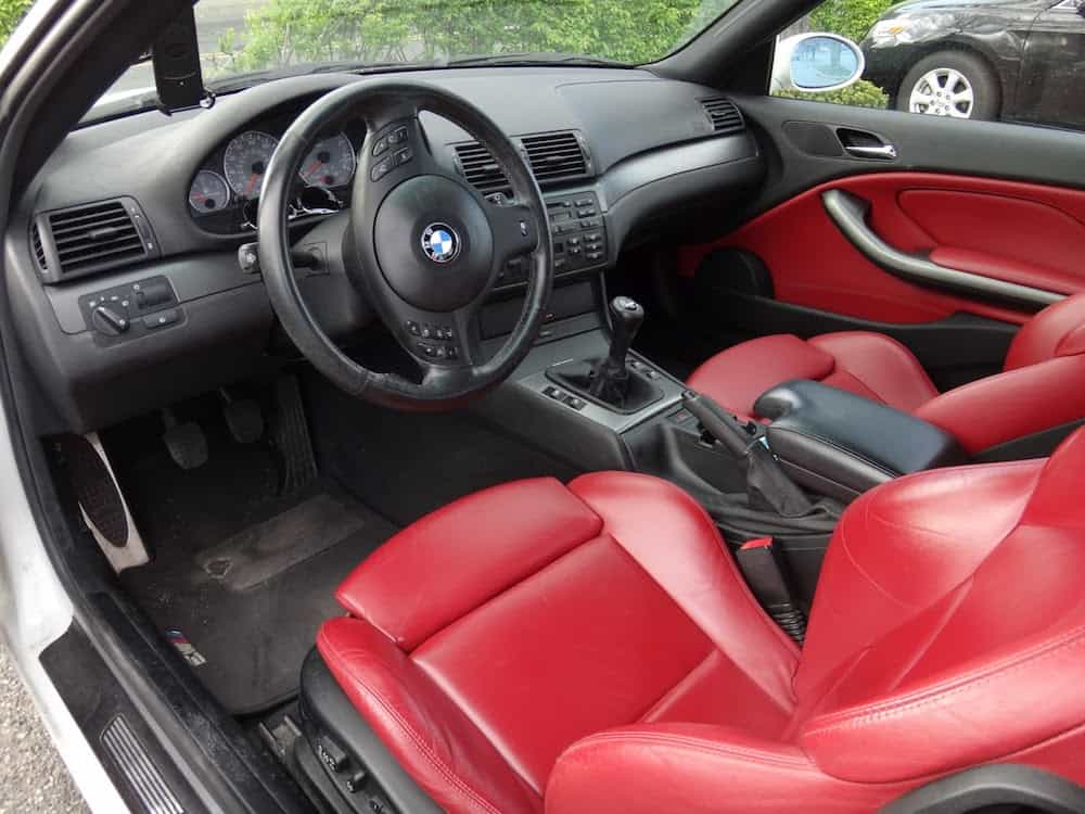 e46 m3 imola red interior