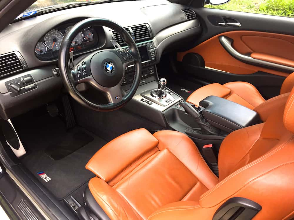 BMW E46 M3 cinnamon interior