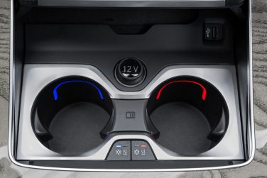 BMW X7 heated cooled cupholders