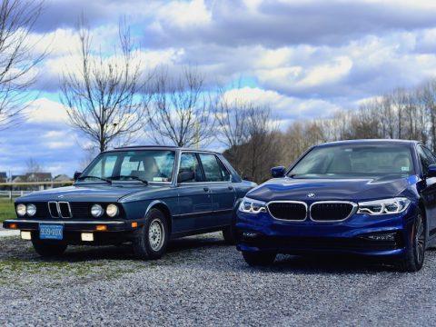 BMW E28 G30 comparison