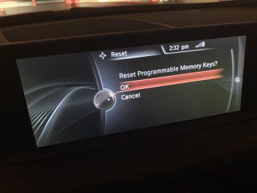 Erase BMW programmable memory keys