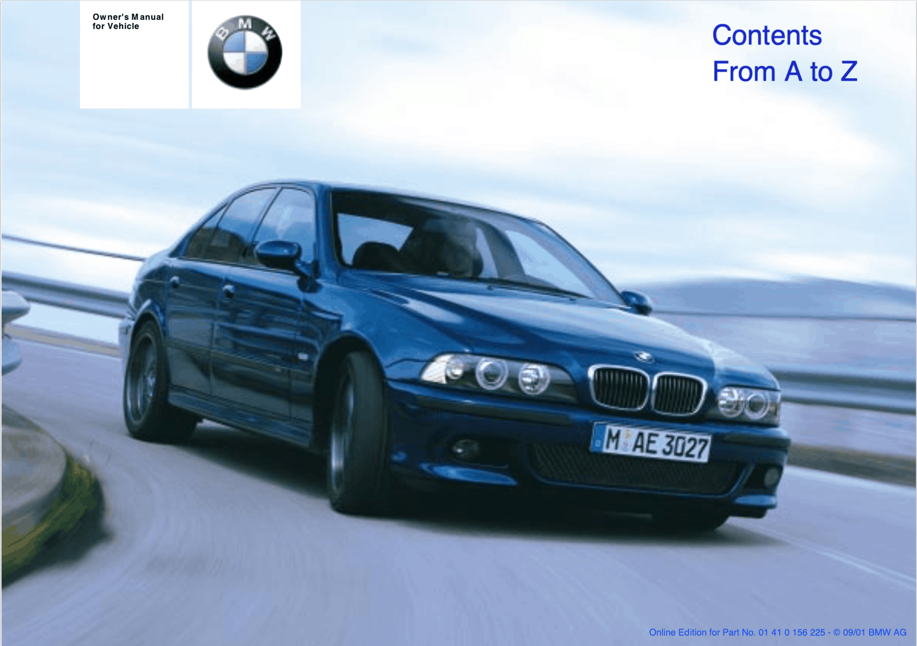 e39 m5 owners manual download pdf