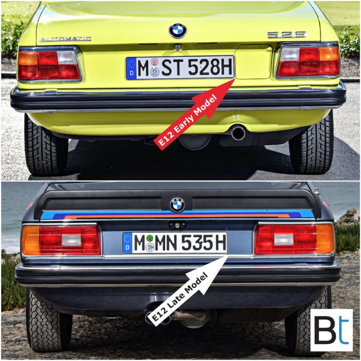 BMW E12 LCI changes