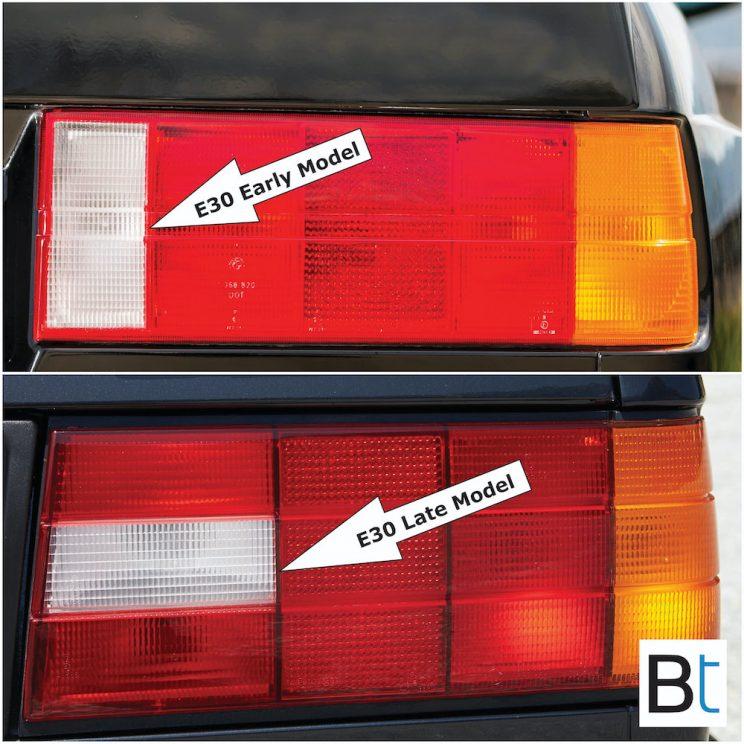 BMW E30 LCI changes