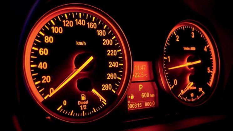 BMW red orange lighting