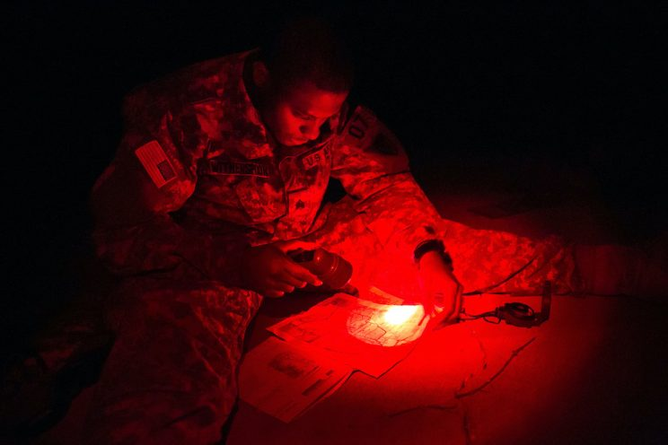 Red tactical light