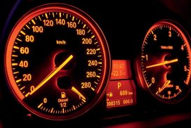 orange lighting bmw instruments