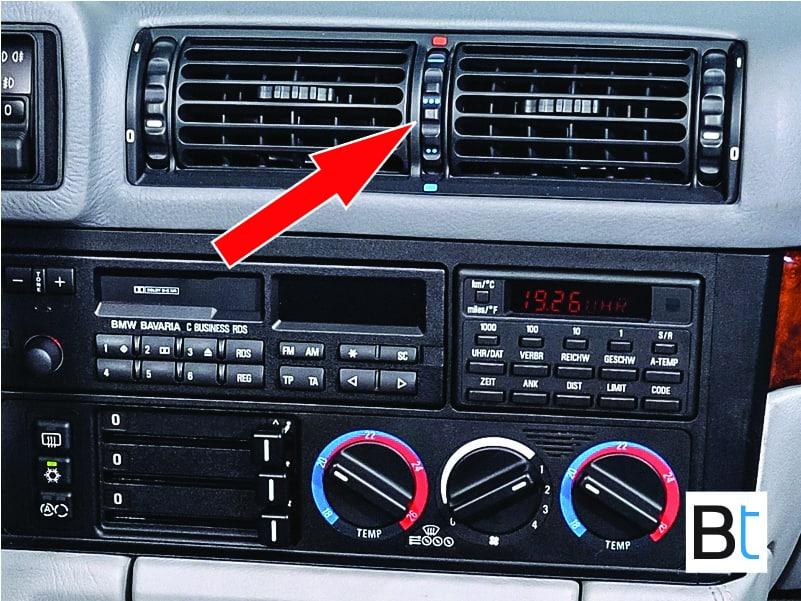 BMW E34 center vent temp dial