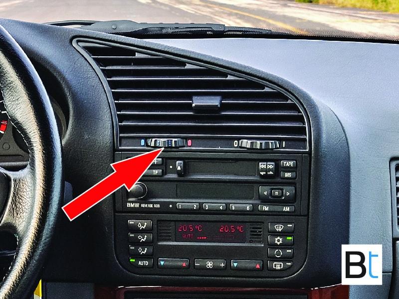 BMW E36 center vent temp dial