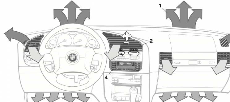 BMW E36 center temperature wheel dial