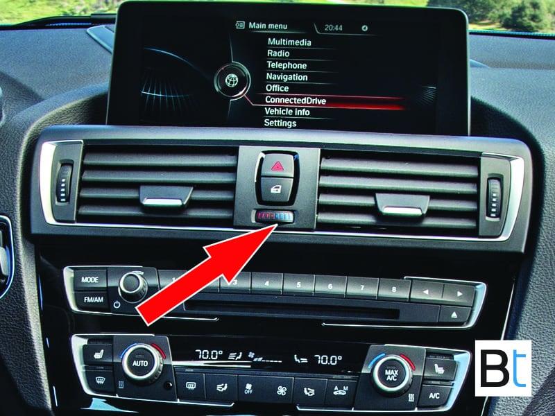 BMW F87 center vent temp dial