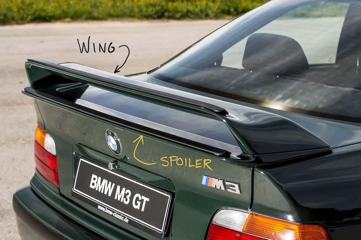 rear wing vs spoiler explained