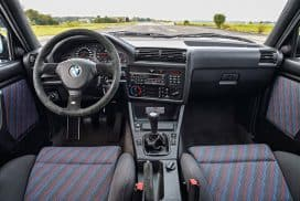 BMW E30 M3 sport evolution interior