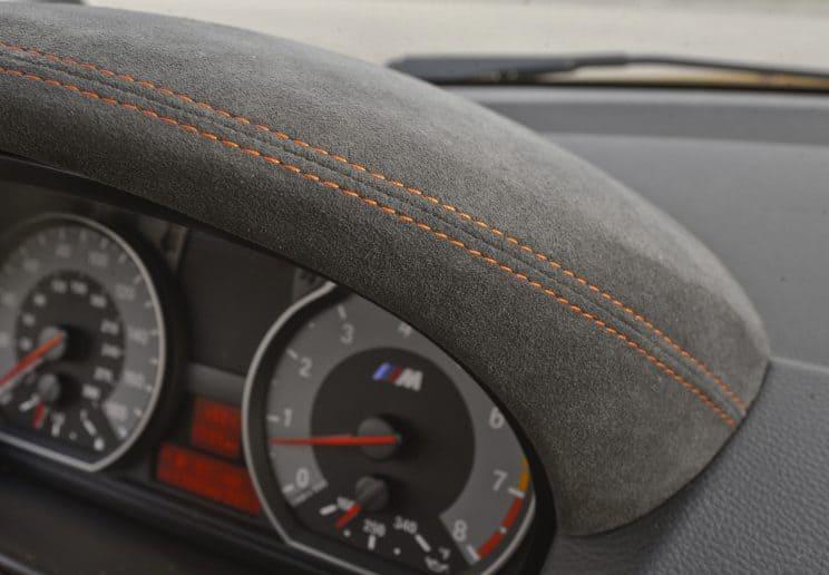 BMW E87 1M interior alcantara