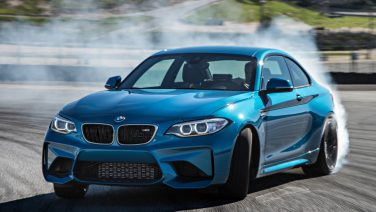 BMW M2 track burnout