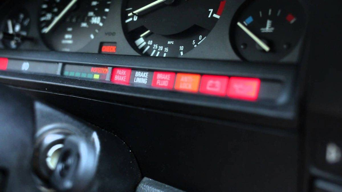 How to reset E30 oil service inspection light
