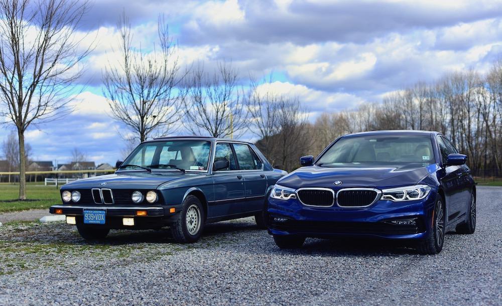 BMW E28 vs G30 comparison